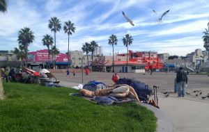 Venice beach homeless